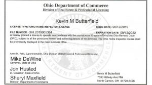 Ohio-Inspector-License